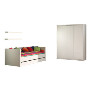 Lara 4-Piece Room Set With Captain Bed