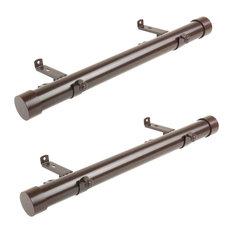 1.5 inch dia. Side Curtain Rod 12-20 inches Long (Set of 2)