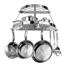 Range Kleen 22-Piece Stainless Steel Double Shelf Pot Rack