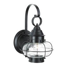 Cottage Onion Small Wall Light, Black
