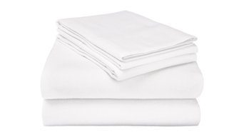 Extra-Warm Cotton Flannel Sheet Set - Cal King, White