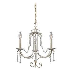 Cambridge 3-Light Chandelier, Antique Silver