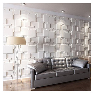 Art3d Decorative 3D Wall Tiles for Modern Wall Decor, White, Set of 12