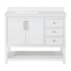 "OVE Decors Stanley 42"" Vanity White With Power Bar"