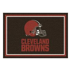 "Cleveland Browns NFL Team Spirit Rug, 5'4""x7'8"""