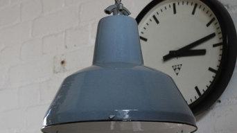 """""""LAHRA BLUE"""" Industrielampe Emaille Vintage"""