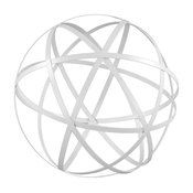 White Iron Garden Sphere, Large