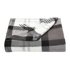 Lavish Home Faux Cashmere Acrylic Throw Blanket,, Phantom
