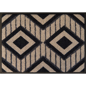 Striped Diamond Easy-Clean Door Mat