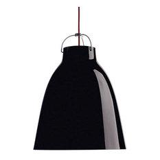 Caravaggio Pendelleuchte Hochglanz P3 Schwarz/Rot Lightyears