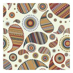 Proud Paisley Shelf Paper Drawer Liner, 36x12, Matte Paper