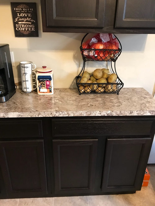 Wall Paint Color For Kitchen With Dark Cabinets Advice Needed