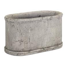 "Oval Container 16""x10""H Ceramic"