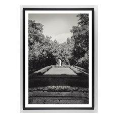 """Tropical Estate #4, 32""""x22"""" Framed, White"""