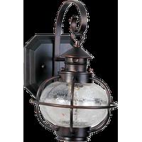 One Light Oil Rubbed Bronze Seedy Glass Wall Lantern
