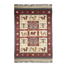 "St. Croix Hacienda Tribal Off White 2'6""x4'2"" Rug"