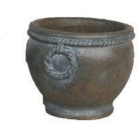 Tuscany Pot Cast Stone Outdoor Garden Planter, Slate (SL), Large