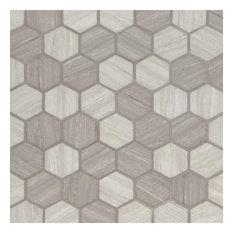 Milano Silva Oak 2 Hexagon 6Mm, Misc, Glass, Mosaics