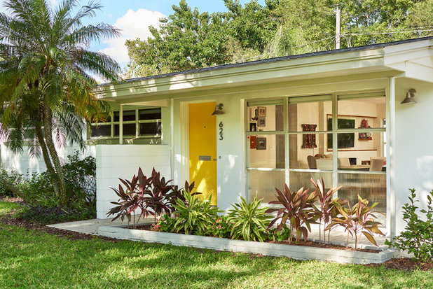Midcentury Exterior by Traction Architecture