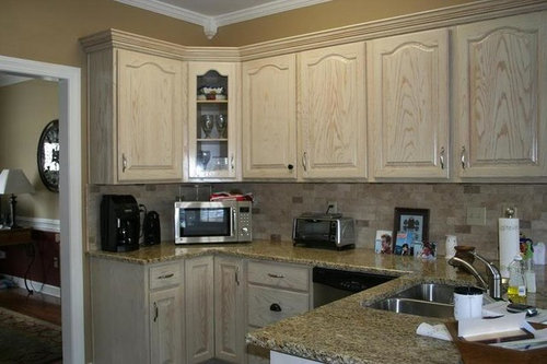 lovely whitewashed oak kitchen cabinets | Picking color to paint kitchen cabinets, Pic