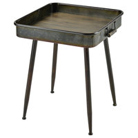 Pomeroy Chamberlin Square Table In Grey And Roast 611728