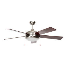 52-Inch Saturn Ex Ceiling Fan, Stainless Steel