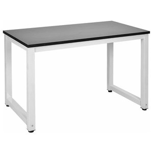 Modern Stylish Desk, MDF With Adjustable Legs, Perfect for Space Saving, Black