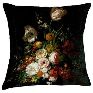 Velvet Tableau Cushion, Tulips