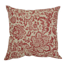 "Fairhaven Damask 18"" Throw Pillow"