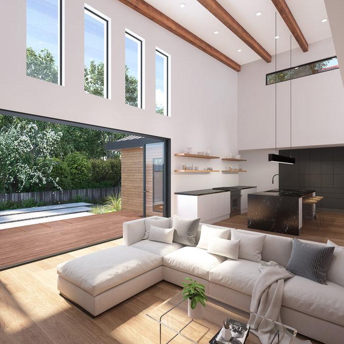 Inspiration for a modern living room remodel in San Francisco
