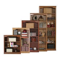 Classic Oak 60-inch Open Bookcase Olive Oak