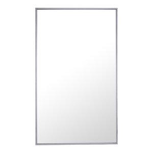 "24""x40"" Rectangle Metal Frame Mirror, Silver"