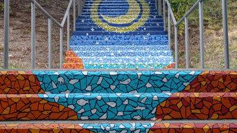 Escaleras en Estella-Lizarra
