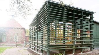 Personalbyggnad i Botaniska Trädgården