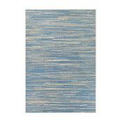 "Couristan Monaco Alassio Indoor/Outdoor Area Rug, Sand/Azure/Turquoise, 5'3""x7'6"