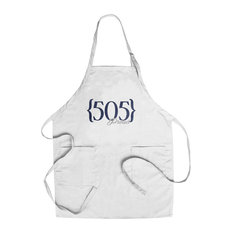 Chef'S Apron, Albuquerque, New Mexico, 505 Area Code, Blue,