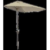 off-The-Wall Brella Half Umbrella, Antique Beige, 7.5', Sunbrella Fabric