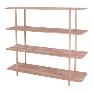 Berlin Solid Oak Bookcase, 4 Shelves