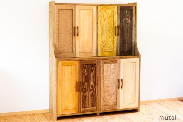 モダン 飾り棚・カップボード いろいろな木の食器棚