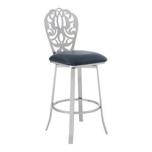 Marvelous Vega Contemporary 30 Bar Height Barstool Brushed Stainless Unemploymentrelief Wooden Chair Designs For Living Room Unemploymentrelieforg