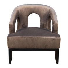 Luppy Chair, Gray, Velvet