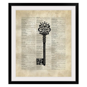 Quot Vintage Dictionary Art Hot Air Balloon 3 Quot Black Framed