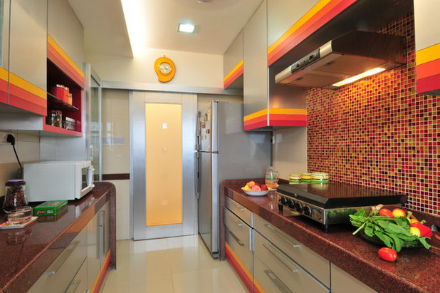 Eclectic Kitchen by Aum Architects