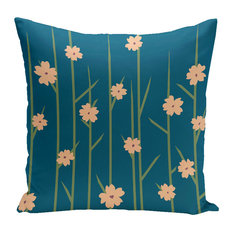 """Polyester Outdoor Pillow, Floral, 20""""x20"""""""