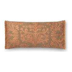 """Khaki/Copper 12""""x27"""" Decorative Accent Pillow"""