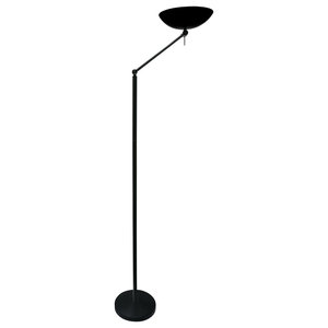 Dermot Uplighter Floor Lamp, Black
