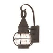 Livex 26900-04 Newburyport Wall Lantern 7In Black Tones 1-Light