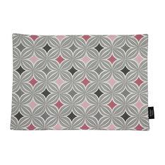 McAlister Textiles Laila Place Mats Geometric Design, Set of 2, Blush Pink
