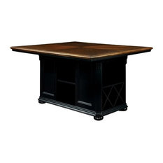 Furniture of America Hendrix Solid Wood Counter Height Dining Table in Black