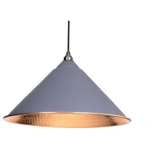From The Anvil Hockley Pendant, Dark Grey Hammered Copper
